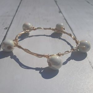 Faux Pear Bangle